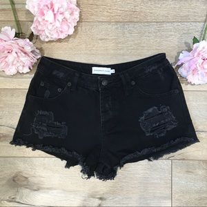 """Shopbop """"Sincerely Jules"""" High Rise Jean Shorts S"""